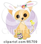 Royalty Free RF Clipart Illustration Of An Adorable Easter Chihuahua Puppy by Maria Bell
