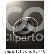 Royalty Free RF Clipart Illustration Of A 3d Sound Speaker On Gray by Mopic