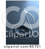 Royalty Free RF Clipart Illustration Of A 3d Music Note Speaker On Blue by Mopic #COLLC85751-0155