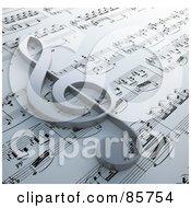 3d Clef Symbol Resting On Claude Debussy - Danse Sheet Music