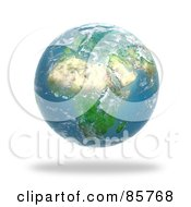 Royalty Free RF Clipart Illustration Of A 3d Cloudy Globe Featuring Africa