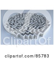 Royalty Free RF Clipart Illustration Of A Rounded 3d Maze On Gray by Mopic