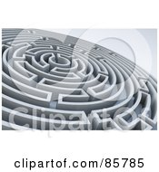 Royalty Free RF Clipart Illustration Of A Circular 3d Maze by Mopic