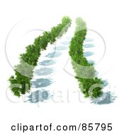 Royalty Free RF Clipart Illustration Of An Aerial View Down On 3d Trees With Green Foliage And Shadows by Mopic