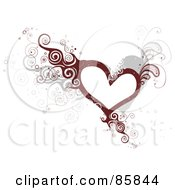 Royalty Free RF Clipart Illustration Of A Curly Vine Heart
