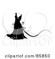 Royalty Free RF Clipart Illustration Of A Black Dress With Magical Vines