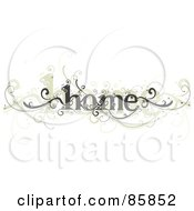 Royalty Free RF Clipart Illustration Of A Gray And Beige Curly Home Vine