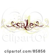 Royalty Free RF Clipart Illustration Of A Brown And Beige Curly Sale Vine by BNP Design Studio
