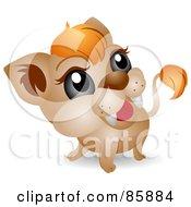 Poster, Art Print Of Adorable Big Head Baby Lion Cub