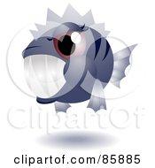 Royalty Free RF Clipart Illustration Of An Adorable Big Head Baby Piranha