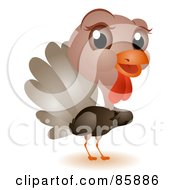 Royalty Free RF Clipart Illustration Of An Adorable Big Head Baby Turkey by BNP Design Studio