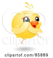 Royalty Free RF Clipart Illustration Of An Adorable Big Head Baby Chick by BNP Design Studio