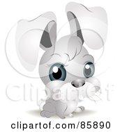 Royalty Free RF Clipart Illustration Of An Adorable Big Head Baby Bunny Rabbit