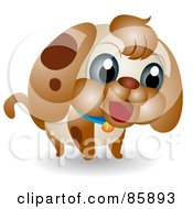 Poster, Art Print Of Adorable Big Head Baby Puppy