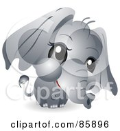 Poster, Art Print Of Adorable Big Head Baby Pachyderm