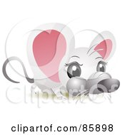 Royalty Free RF Clipart Illustration Of An Adorable Big Head Baby Mouse by BNP Design Studio