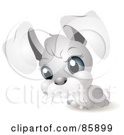 Royalty Free RF Clipart Illustration Of An Adorable Big Head Baby Rabbit