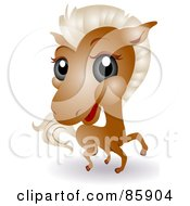 Royalty Free RF Clipart Illustration Of An Adorable Big Head Baby Horse