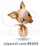 Royalty Free RF Clipart Illustration Of An Adorable Big Head Baby Joey Kangaroo by BNP Design Studio