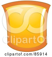 Royalty Free RF Clipart Illustration Of A Shiny Golden Shield