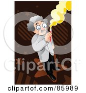 Royalty Free RF Clipart Illustration Of A Male Doctor Holding A Test Tube by mayawizard101