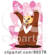 Royalty Free RF Clipart Illustration Of A Pumpkin Headed Bear by mayawizard101