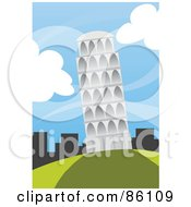 Royalty Free RF Clipart Illustration Of Wind Blowing Around The Tower Of Pisa