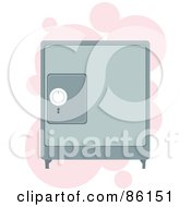 Royalty Free RF Clipart Illustration Of A Personal Safe Box Over Pink Bubbles by mayawizard101
