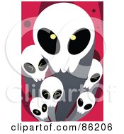 Royalty Free RF Clipart Illustration Of Evil Ghosts Over Pink by mayawizard101