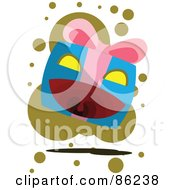 Royalty Free RF Clipart Illustration Of An Evil Gift Box Attacking