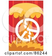 Royalty Free RF Clipart Illustration Of A Peace Symbol Breaking Against A Tree by mayawizard101