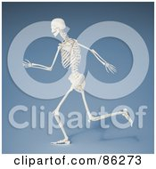 Royalty Free RF Clipart Illustration Of A Running 3d Human Skeleton by Mopic