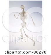 Royalty Free RF Clipart Illustration Of A Human Skeleton Running Away by Mopic