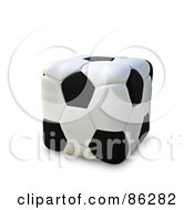 Royalty Free RF Clipart Illustration Of A 3d Cubic Soccer Ball by Mopic