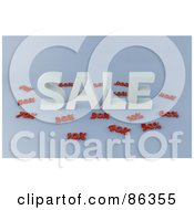 Royalty Free RF Clipart Illustration Of Discounted Prices Around The Word Sale