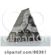 Royalty Free RF Clipart Illustration Of A Pyramid Shaped Of 3d Laptops