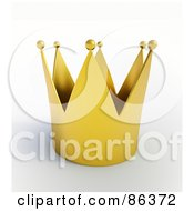 Royalty Free RF Clipart Illustration Of A 3d Golden Kings Crown With Balls At The Tips