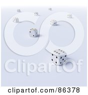 Royalty Free RF Clipart Illustration Of Scattered 3d Dice by Mopic
