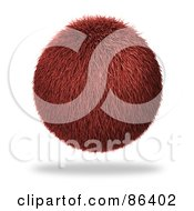 Royalty Free RF Clipart Illustration Of A Furry Red Floating Orb by Mopic