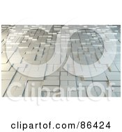 Royalty Free RF Clipart Illustration Of A Background Of Metal Blocks