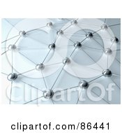 Royalty Free RF Clipart Illustration Of A Network Of Connected Orbs And Lines
