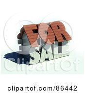 Royalty Free RF Clipart Illustration Of A 3d For Sale Word Home by Mopic