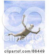 Royalty Free RF Clipart Illustration Of A Dummy Falling From The Sky