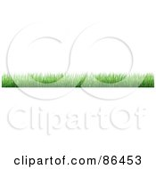 Royalty Free RF Clipart Illustration Of A Long Grass Border Over White by Mopic