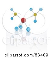 Royalty Free RF Clipart Illustration Of A 3d Particle Of Colorful Orbs On White