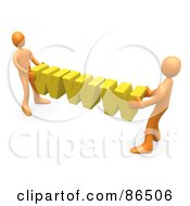 Royalty Free RF Clipart Illustration Of 3d Orange People Carrying Yellow WWW