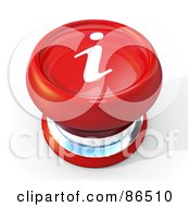 Royalty Free RF Clipart Illustration Of A 3d Red Information Push Button With A Shadow