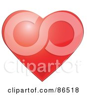 Royalty Free RF Clipart Illustration Of A Light Bouncing Off Of A Shiny Red Heart by Pams Clipart