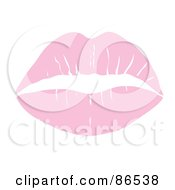 Lipstick Smooch Kiss In Pastel Pink