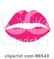 Royalty Free RF Clipart Illustration Of A Lipstick Smooch Kiss In Pink